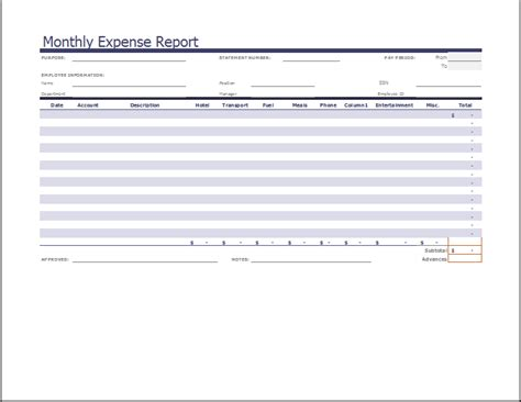 Consulting Expense Report Template Expense Report Template Xls Monthly Expense