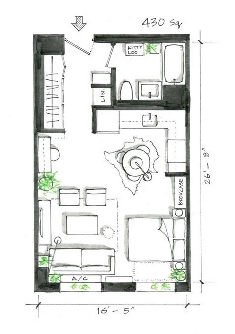 efficiency apartment layout 5 smart studio layouts that work wonders for one room