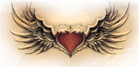 cool heart tattoos with wings designs www imgkid the