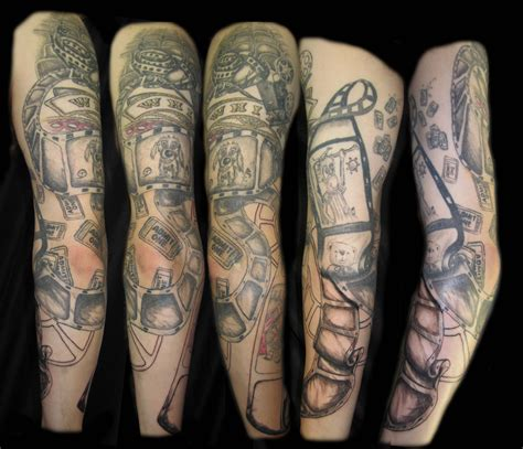 theater tattoos theatre theater projector arm mens
