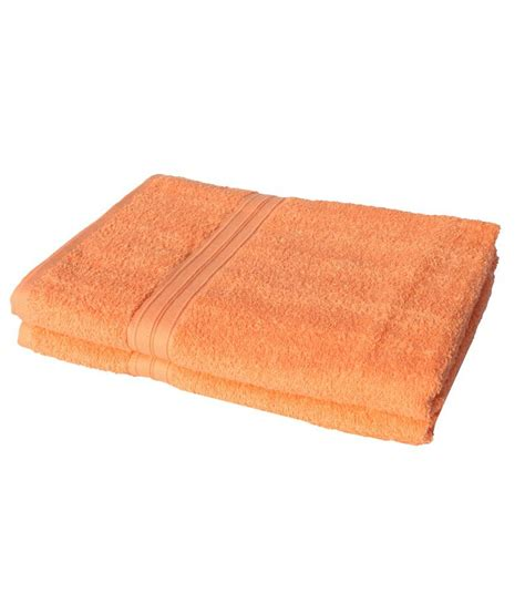 orange towels bathroom mandhania orange cotton 2 bath towels buy mandhania