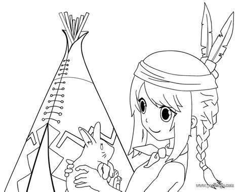 imagenes para dibujar indigenas dibujos para colorear un indio americano es hellokids com