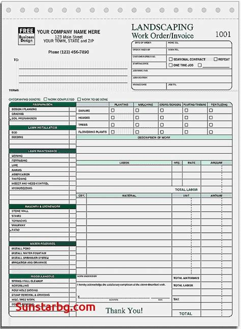 printable work order invoice free printable invoice forms for invoice template cool