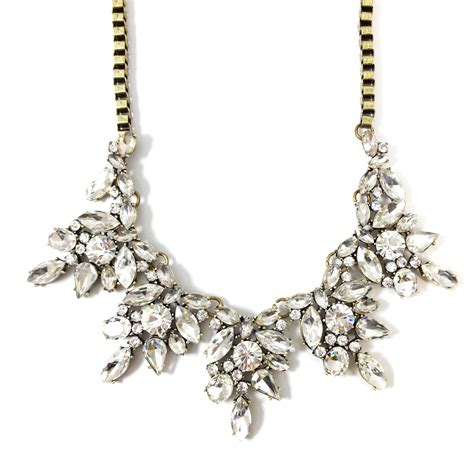 iced wreath cluster statement necklace