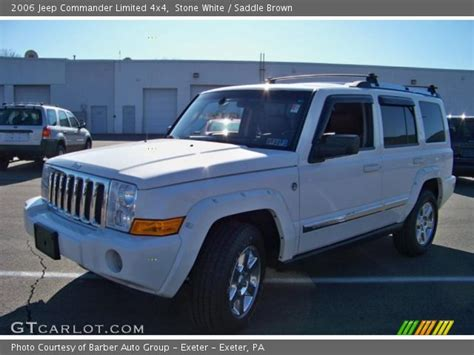 2006 Jeep Commander White White 2006 Jeep Commander Limited 4x4 Saddle