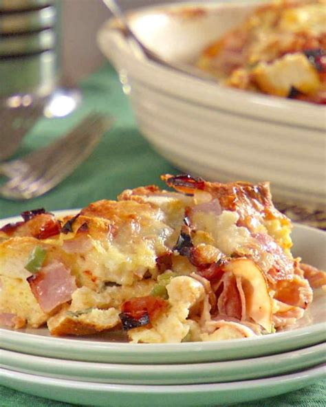 strata recipes ham and cheese strata recipe cook in hearty