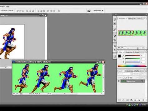 adobe photoshop sprite tutorial tutorial animar sprites en photoshop youtube