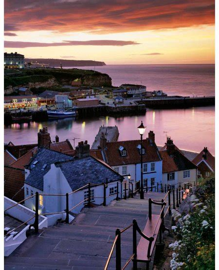twilight yorkies whitby harbour summer twilight coast