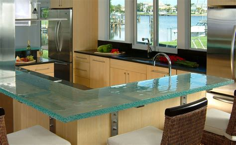 Glass Bar Top Ideas Glass Kitchen Countertops By Thinkglass Idesignarch