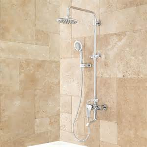 Plumbing Shower by Exposed Pipe Shower Tub Faucet With Watering Can Shower
