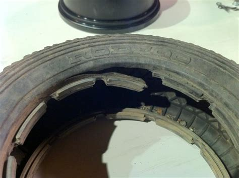 damaged tire bead ripping rear tire rclargescale