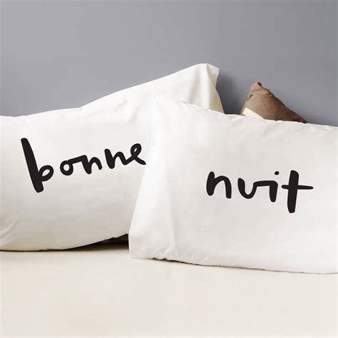 Bedroom Designs by Bonne Nuit Pillow Cases By Old English Company Notonthehighstreet Com