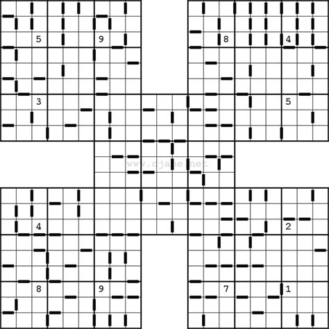 printable sudoku samurai consecutive samurai sudoku puzzles pinterest samurai