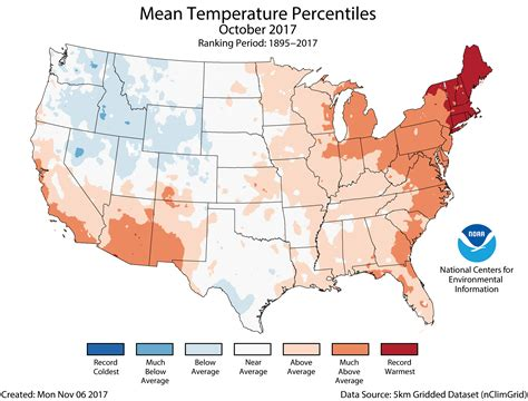 us weather map october october 2017 us average temperature percentiles map png
