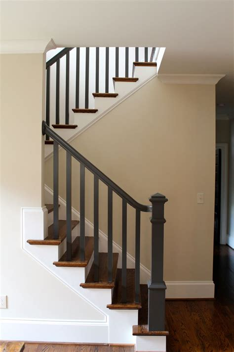 How To Paint A Banister Black by Best 25 Stair Banister Ideas On Banisters Banister Remodel And Wood Stair Railings