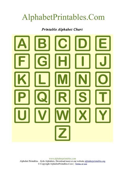 printable alphabet squares square shaped a z letter chart templates alphabet