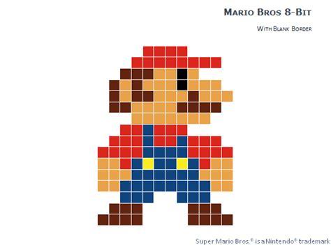 mario pixel template 8 bit pixel mario bros for powerpoint