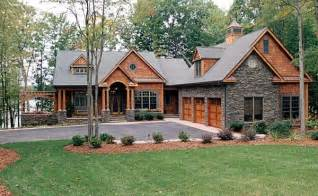 Hillside Cabin Plans by Craftsman Style Hillside House Plan Family Home Plans Blog