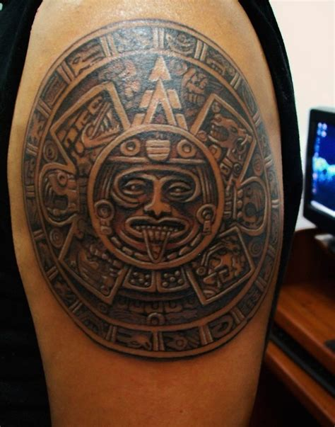 aztec calendar tattoo 17 best ideas about aztec designs on