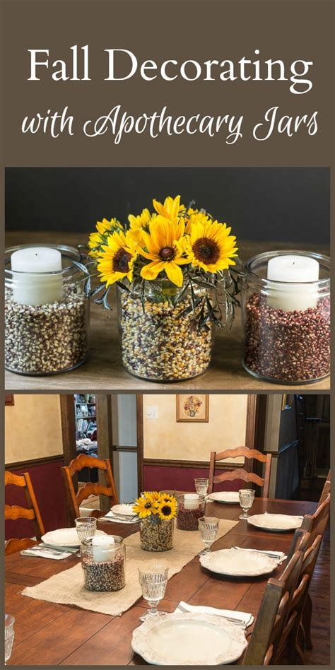 apothecary home decor easy fall decorating with apothecary jars
