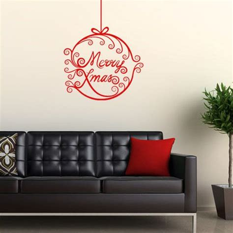 merry christmas bauble wall sticker decals
