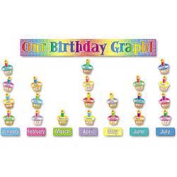 birthday bulletin board templates scholastic our birthday graph bulletin board set