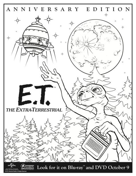E Coloring Page Printable by Enjoy This Printable E T Coloring Page E T The
