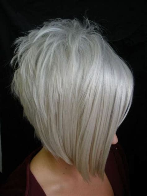 inverted layers in hair inverted bob haircut with grey hair bob haircuts for fine