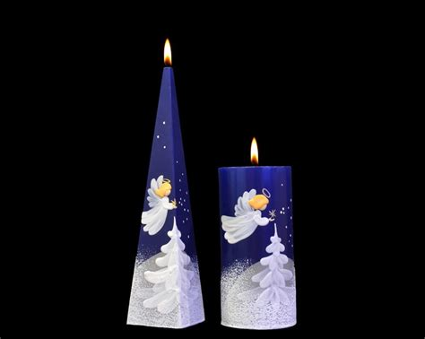 handmade christmas candles angel s whisper cylinder