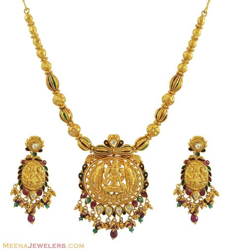 indian temple jewelry 22k gold stan10710 22k gold