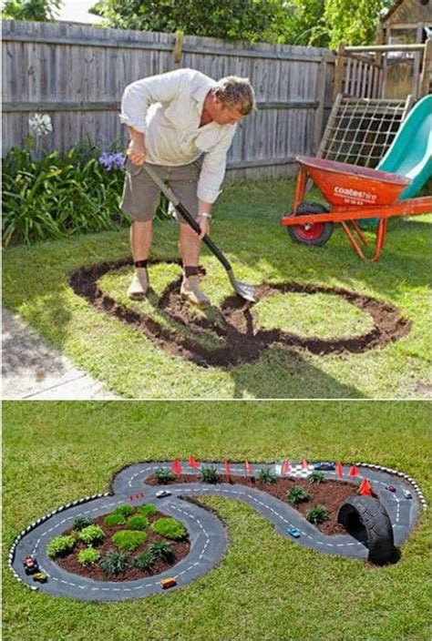 backyard cing backyard race car track an easy diy the whoot