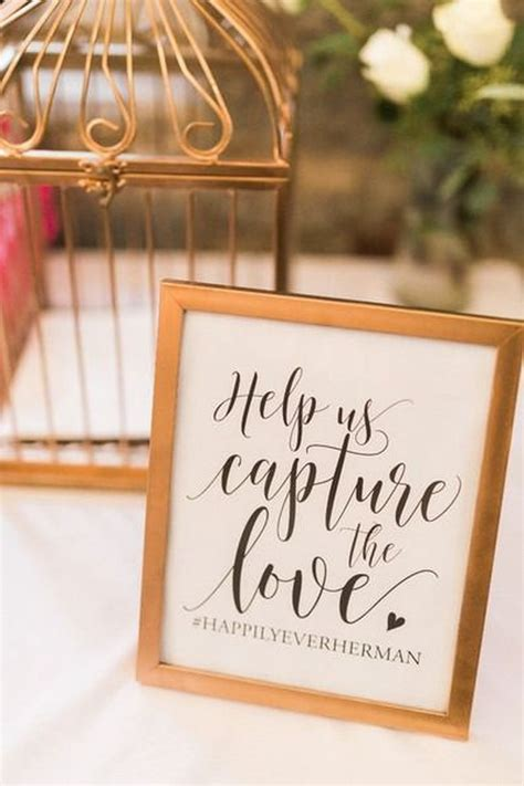 trending wedding hashtag sign ideas   big day