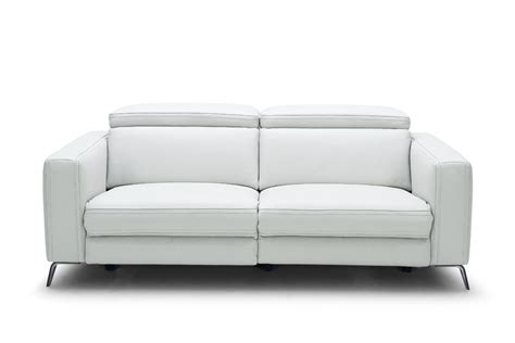 contemporary leather recliner sofa divani casa roslyn modern white leather sofa set w