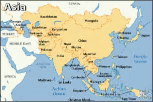 Map Of Asia With Countries by Asia Fast Facts Asia Area Map
