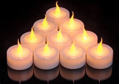 candele smart pack of 10 economy battery led candle tea light