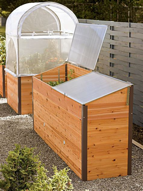elevated raised bed elevated cedar raised bed with cold frame