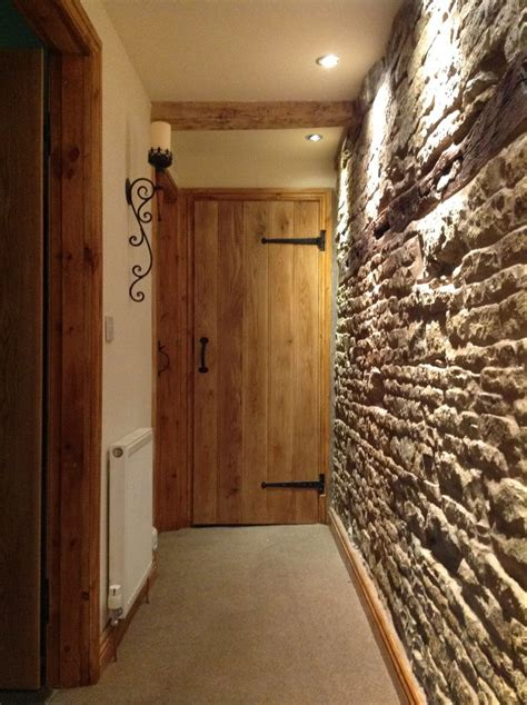 Cottage Interior Doors Solid Oak Barn Door Traditional Cottage Barn Door