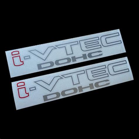 Sticker Dohc Vtec Silver Jdm 084 buy 2x i vtec dohc i civic decals stickers jdm sir k20 fa5 integra type r si motorcycle