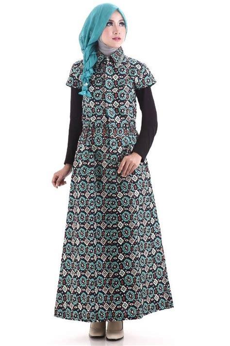 Gamis Remaja Kombinasi Batik Model Baju Gamis Batik Terbaru Rancangan Desainer Indonesia