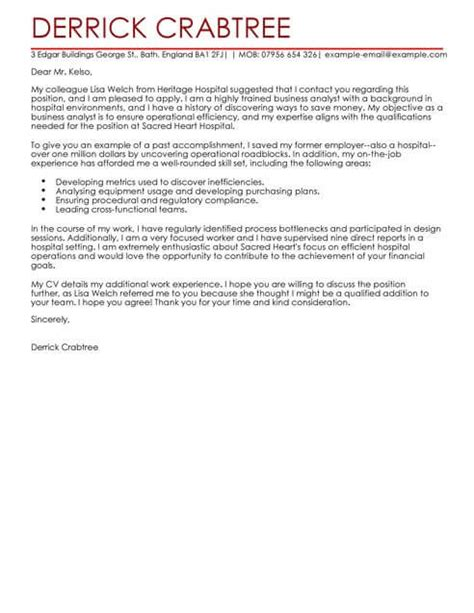 business cover letter business cover letter exles templates livecareer