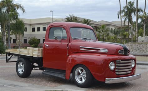 ford truck bed 1948 ford f1 stake bed pickup truck custom street hot rod