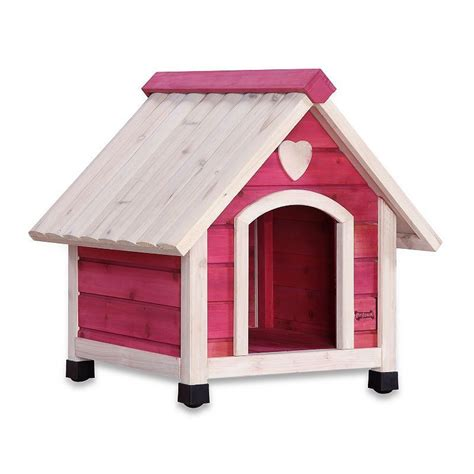 pet squeak pink arf frame dog house small products