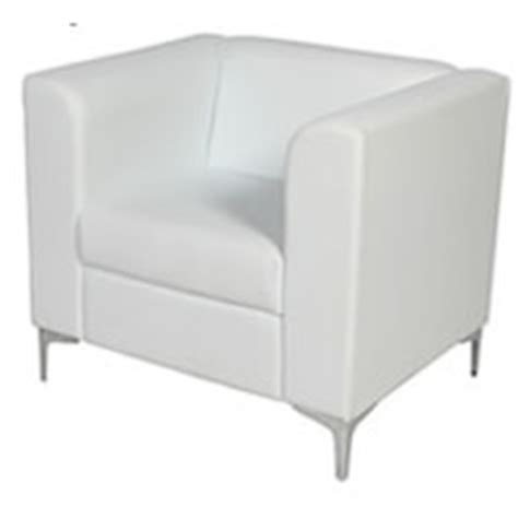 White Single Sofa by Leather Sofa Hire