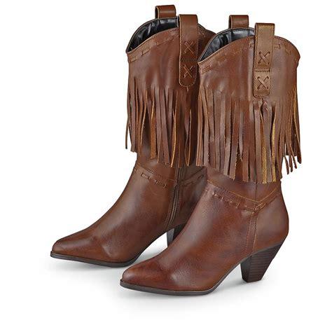 s dingo 174 fringe boots brown 202750 cowboy
