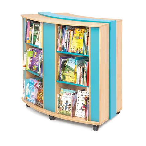 mobile curved bookcase library shelving