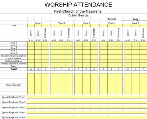 Church Attendance Card Template by Search Results For Attendance Sheet Calendar Calendar