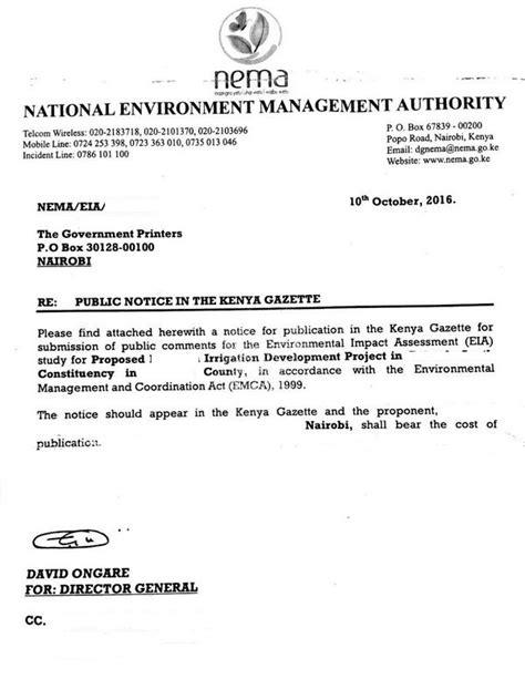 Introduction Letter Clearing Forwarding Eregulations Kenya