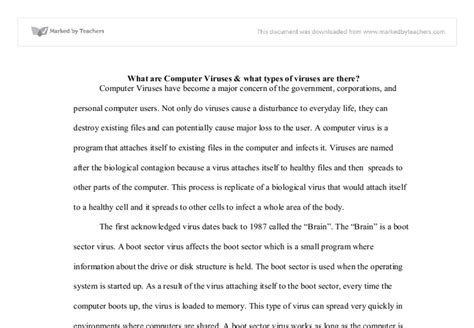 History Of Computer Essay by History Of Computer Viruses Essays
