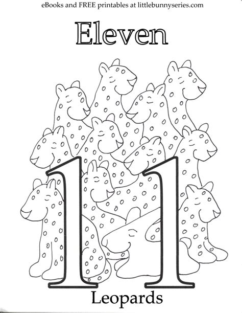 coloring page of number 11 coloring pages little bunny series