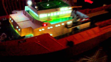 tug boat lights 54 inch r c tug boat lighting test youtube